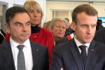 Carlos Ghosn e Emmanuel Macron