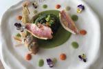 """Triglia croccante con patate, broccoletti e funghi di Pietro D'Agostino, chef stellato de """"La Capinera"""" di Taormina"""