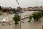 Maltempo, a Mazara del Vallo esonda il fiume: le immagini della città allagata