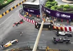 Pomeriggio drammatico sul circuito di Macao