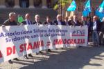 A Palermo un flash mob dei giornalisti per sostenere la libertà di stampa