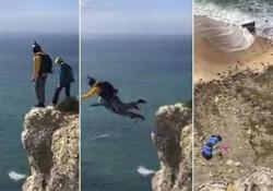 La tragedia in Portogallo, su una scogliera a Nazaré