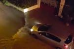 Torna il maltempo in provincia di Palermo, strade allagate e voragini a Monreale e Borgo Molara