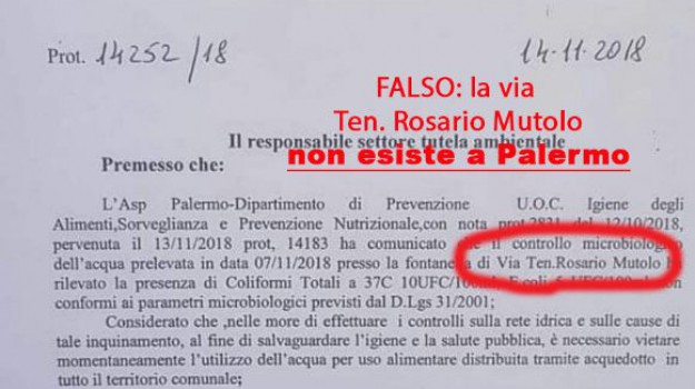 Messaggio su whatsapp su acqua inquinata a Palermo, ma è una fake news