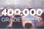 Giornale di Sicilia, raggiunta su Facebook quota 400 mila