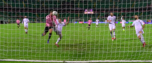 Il gol di Puscas che ha regalato il successo al Palermo