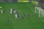 Il colpo di testa di Rajkovic per il pareggio del Palermo