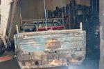 Il mezzo del Consorzio bruciato a Ribera la scorsa estate
