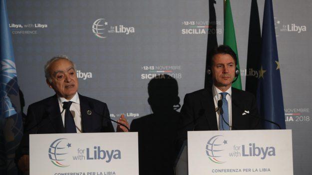 L'inviato Onu per la Libia Ghassam Salamè e il premier Conte