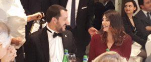 Il vicepremier Matteo Salvini ed Elisa Isoardi