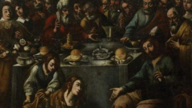 italkali, Tela Cena in casa del Fariseo, Pietro D'Asaro, Agrigento, Cultura