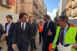 Il ministro Toninelli a Palermo: visita al cantiere dell'anello ferroviario