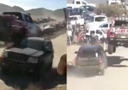 Il pilota Alexander Rossi se l'è vista brutta durante un rally in Messico