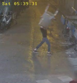 Un frame del video pubblicato dal sindaco Leoluca Orlando