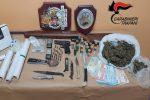 Castelvetrano, coppia nasconde in casa armi e droga: due arresti