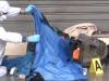 La Scientifica in piazzale Ungheria per i rilievi sulla morte di un clochard, Palermo