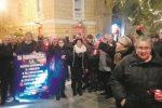 Centro storico poco illuminato per Natale, il sit-in dei commercianti di Caltanissetta