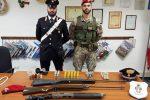 A Scordia trovate armi clandestine e munizioni: arrestato un uomo di 37 anni