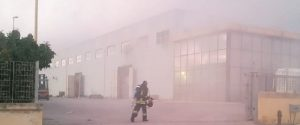 L'incendio alla Flexo Bags di Agrigento, effettuati nuovi accertamenti