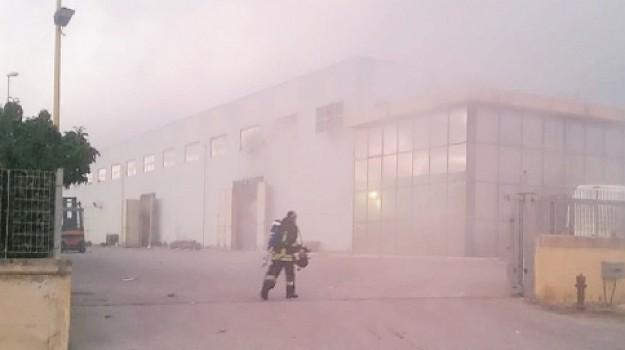 incendio flexo bags, Agrigento, Cronaca