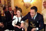 Le nozze dello chef Natale Giunta a Palermo, le foto del ricevimento a palazzo Alliata
