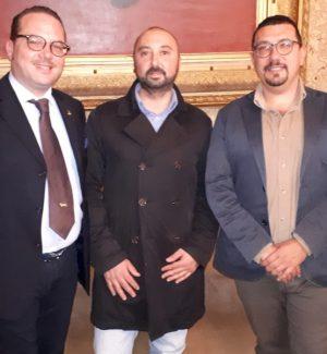 Da sinistra: Luca Seminerio, Mario Canale e Igor Gelarda