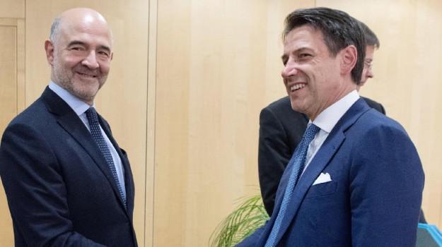 Pierre Moscovici e Giuseppe Conte