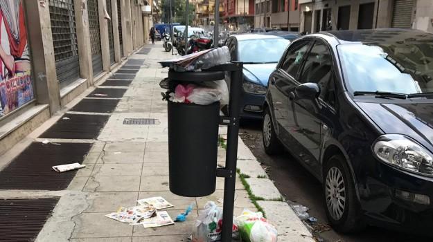 cestini rifiuti Palermo, Palermo, rifiuti palermo, Giuseppe Norata, Leoluca Orlando, Palermo, Cronaca