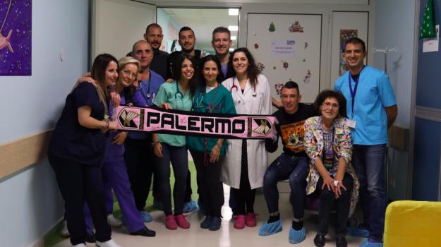 Nestorovski oncologia civico, oncoematologia palermo, Palermo, Alberto Pomini, Cesar Falletti, Ilija Nestorovski, Palermo, Calcio
