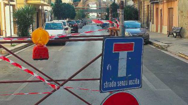CASTELVETRANO, chiusura via Garibaldi, via Garibaldi Castelvetrano, Pietro Scarpinati, Trapani, Cronaca