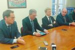 L'assessore regionale Marco Falcone incontra l'amministrazione comunale di Agrigento