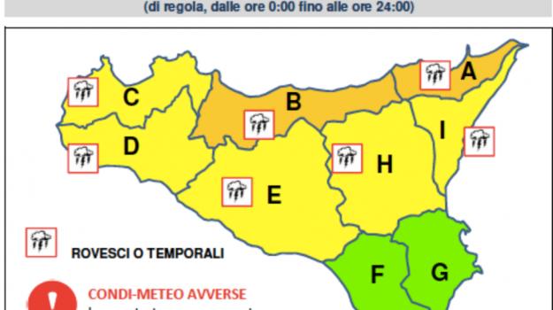 Allerta arancione Siclia, previsioni meteo sicilia, temporali sicilia, Sicilia, Meteo