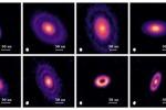 Particolare di alcune nubi di gas e polveri, detti dischi protoplanetari, nella costellazione del Toro, che nascondono la presenza di pianeti nascenti. (fonte: Feng Long)