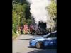 Autocompattatore in fiamme vicino alla discarica di Bellolampo, il video dell'incendio