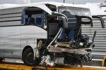Pullman partito da Genova si schianta a Zurigo: morta una donna italiana, 41 i feriti