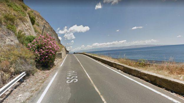 frana alì terme, strada 114 orientale sicula, Messina, Cronaca