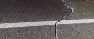 L'asfalto allo svincolo di Acireale