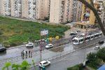 Maltempo a Palermo: strade allagate, si ferma anche il tram. Due incidenti