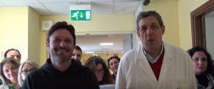 Palermo, l'ex giocatore Totò Schillaci vicino ai malati terminali del Cervello: lo spot