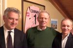 Maurizio Zamparini, al centro, e Clive Richardson