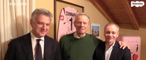 Maurizio Zamparini con i vertici della società inglese