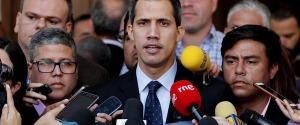 L'autoproclamato presidente ad interim del Venezuela Juan Guaidò