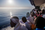 I migranti a bordo della Sea Watch