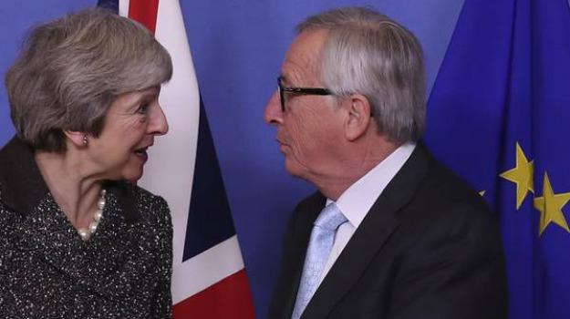 accordo brexit, Jean Claude Juncker, Theresa May, Sicilia, Mondo