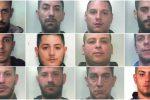 Blitz antidroga a Catania, foto e nomi degli arrestati