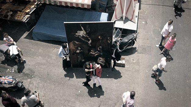 """La """"Natività"""" di Caravaggio di nuovo a Palermo grazie a...Lupin: il video dell'ennese Campisi"""