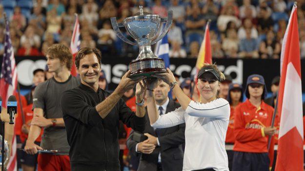 federer vittorie 2019, hopman cup vince la svizzera, Roger Federer, Sicilia, Sport