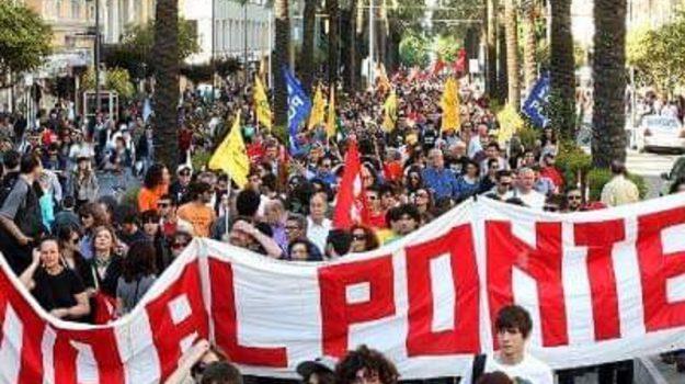 rete no ponte protesta, Messina, Cronaca