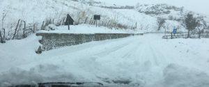 Tempesta di neve a Petralia Soprana in provincia di Palermo (foto Emanuele Termini)