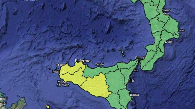 allerta gialla sicilia, maltempo sicilia, Sicilia, Meteo